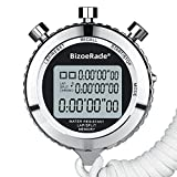 <span class='highlight'><span class='highlight'>BizoeRade</span></span> Silent Stopwatch, Metal Digital Sports Stopwatch with Countdown Timer, 100 Lap Memory, Large Display, Alarm Clock