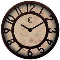 Geneva Clock 8-Inch Wall Clock with Plastic Bezel