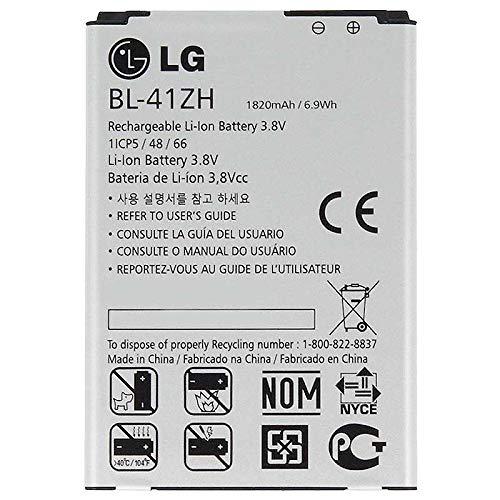 Batería Original para LG BL-41ZH L50 Sporty,L Fino, Leon 4G LTE D213N D290n H340N Joy K5 Optimus 1820mah