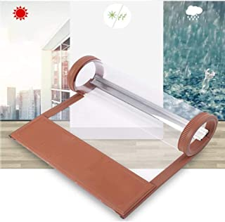 SLM-max Autumn and Winter Thick Magnetic Door Curtain/Automatic Closing/Windproof Shop Commercial Partition Curtain/PVC Material/Brown,35cm×220cm