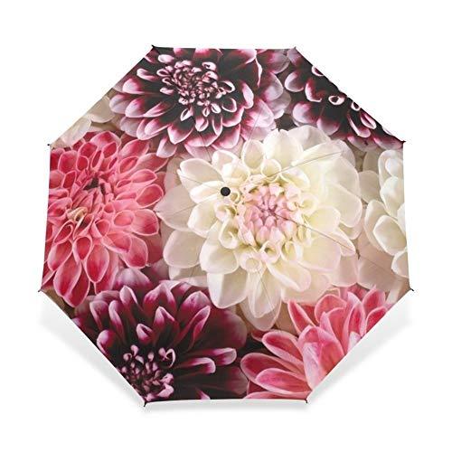 Paraguas Plegable Automático Flor Paraguas Lluvia Mujeres Tres Plegable Paraguas Personalizado Herramientas de Lluvia...