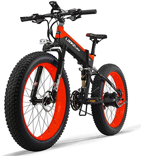 Bicicletas Eléctricas, 48V 10AH 500W motor nuevo todo-Ronda bicicleta eléctrica 26 '' 4.0 al por mayor de neumáticos de bicicleta eléctrica 27 velocidad de nieve montaña bicicleta plegable eléctrica d