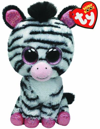 TY 36717 36717-Izzy-Zebra mit Glitzeraugen, rosa glitzernde Ohren und Füße, 15 cm