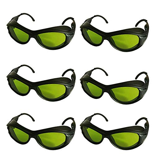 6pcs New IPL CE OD5+ CE UV400 200nm-2000nm Laser Protection Goggles Safety Glasses