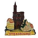 MUYU Magnet Imán para Nevera, diseño de Estrasburgo, Francia 3D, decoración del hogar y la Cocina, Adhesivo magnético, Regalo de Recuerdo turístico