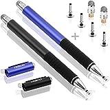 MEKO (les plus sensibles Stylus Pens) 2PCS 2 en 1 Universal capacitifs Precision Disc Stylet Stylo avec Tips Disc 4 de...