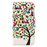 SumacLife Wallet Stand Case for the iPhone 6 Plus - Retail Packaging - Rainbow Tree
