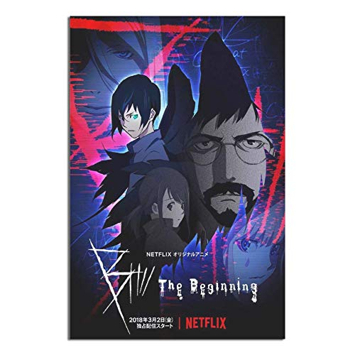 FUH4M B The Beginning Netflix Anime TV Series Posters Painting Canvas Decor for Living Room Prints Bedroom Large Wall Art Picture Unframe-.1 12×18inchs(30×45cm)