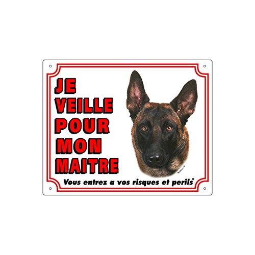 VADIGRAN FR Panneau en PVC pour Berger Belge Malinois Blanc