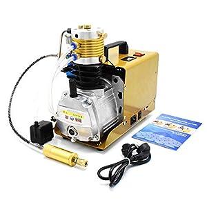 30Mpa 4500psi PCP Air Compressor 110V High Pressure Air Pump Pressure Preset Auto-stop Air Pump Booster for Inflation…