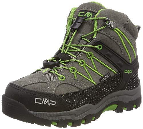 CMP Unisex-Kinder Kids Rigel Mid Shoe Wp Trekking- & Wanderstiefel, Grau (Tortora-Edera 16pc), 28 EU