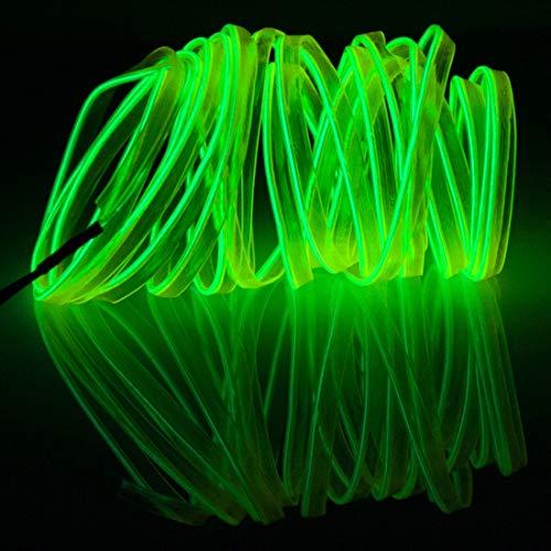 Wasserdichte Flache, flexible Auto-Lichtleiste mit Treiber für Auto-Dekoration, Länge: 5 m, PingGongHuaKeJiYouXianGongSi (Farbe: Hellgrün)
