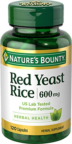 Nature's Bounty Red Yeast Rice Pills and Herbal Health Supplement, Dietary Additive, 600mg, 120...