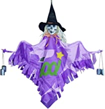 kelihood Campanas de Viento de Halloween, Colgante de Campana de Viento de Bruja: Adorno de Calavera Que cuelga de una Bruja para el diseño de los Juegos de Fiesta de Halloween. Honest Way
