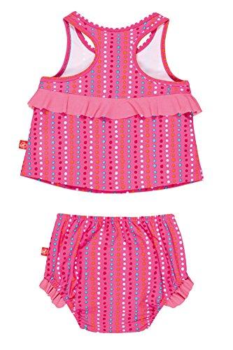 Lässig Splash & Fun 2 piece Tankini / Baby Badeanzug Set girls, L / 12 Monate, dotties lines