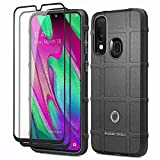 ELESNOW for Samsung Galaxy A40 Case, with Tempered Glass