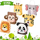 Outus Jungle Safari Party Favor Bolsas Zoo Animales Cumpleaños Trato Goody Bolsas para la Selva Temáticas Decoraciones de Cumpleaños Baby Shower Supplies