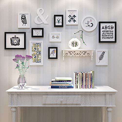 ZHANGQXIA Cadre Photo pour Mur de Photos pour 11 Photos | Mur de Cadre de Collage | pour 5 Pouces, 7 Pouces, 10 Pouces, 12 Pouces | Chambre Salon Bureau (151x79cm),B