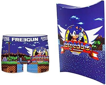 Sonic Freegun - Calzoncillos para hombre multicolor XL