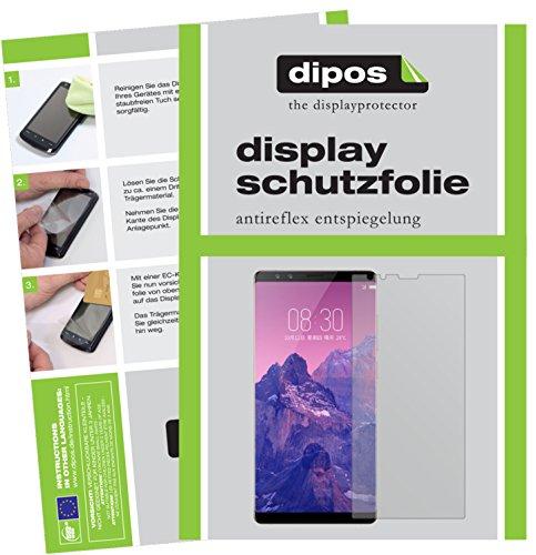 dipos I 6X Schutzfolie matt kompatibel mit ZTE Nubia Z17S Folie Bildschirmschutzfolie
