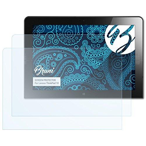 Bruni Schutzfolie kompatibel mit Lenovo ThinkPad 10 Folie, glasklare Bildschirmschutzfolie (2X)