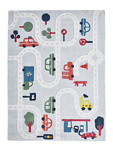 Vertbaudet Spielteppich Autos für Kinderzimmer grau/Mehrfarbig ONE Size