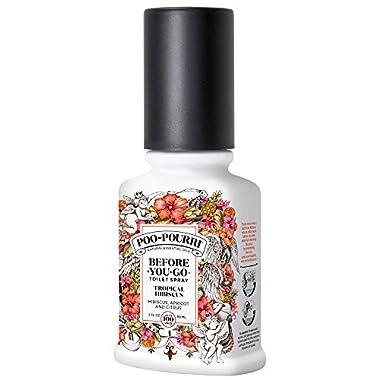 Poo-Pourri Before-You-Go Toilet Spray 2 oz Bottle, Tropical Hibiscus Scent