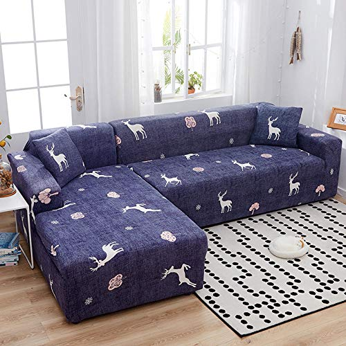 flqwe Cover Anti-Slip Polyester Spandex Stof Sofa Protecto, Stretch sofa cover, hoekbank cover in woonkamer, Dikke Sofa Covers Sofa Protector