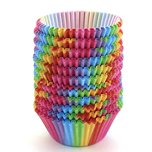Standard Size Rainbow Cupcake Paper, Baking Cup