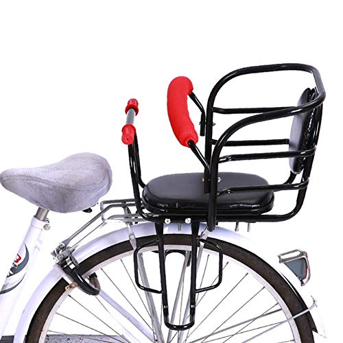 JTYX Fahrrad hinten Kindersitze Faltrad Verdickung Kindersitz mit Sicherheitsgurt