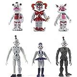 BESTZY Five Nights at Freddy's Action Figure 6pcs Foxy, Gold Freddy, Chica e Endoscheleton Freddy(4,5 Pollici)