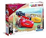 Clementoni- Cars The Movie Supercolor Puzzle-Cars-104 Pezzi Maxi, Multicolore, 23727