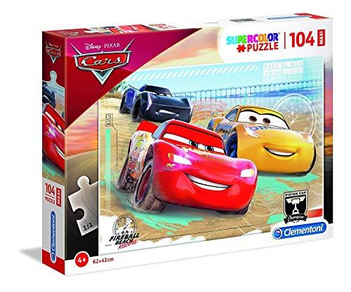 Clementoni- Supercolor Puzzle-Cars-104 Pezzi Maxi, Multicolore, 23727