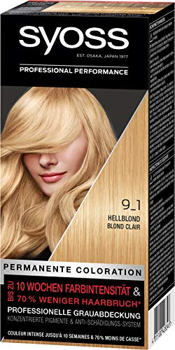 SYOSS Coloration, Haarfarbe 9_1 Hellblond Stufe 3, 3er Pack(3 x 115 ml)