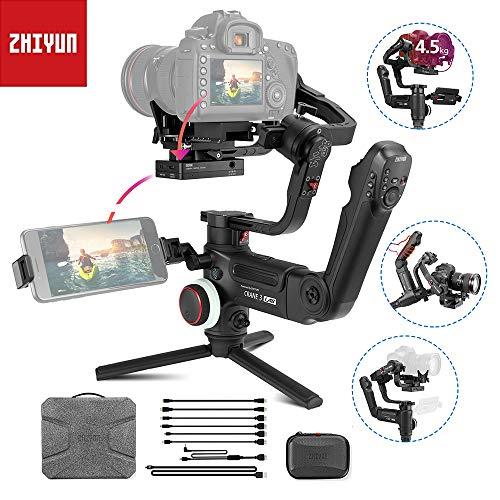 zhiyun Crane 3 Lab Stabilizzatore Gimbal, 3 Assi Fotocamera Gimbal Stabilizzatore, Stabilizzatore Reflex Tre Assi Gimbal Stabilizzatore per DSLR e Mirrorless Fotocamera