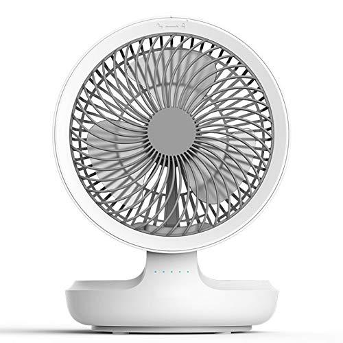 ZTSS Ventilador de Escritorio de Mesa portátil USB con luz de respiración Nocturna, Ventilador Plegable Recargable de 4 velocidades para el hogar, Oficina, Viajes, Camping, al Aire Libre