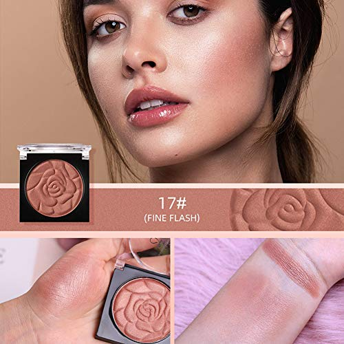 Rabusion Health For 1PC Menow Face Makeup Palette Petal Matte Blusher Powder Contour Cheek Rouge 17