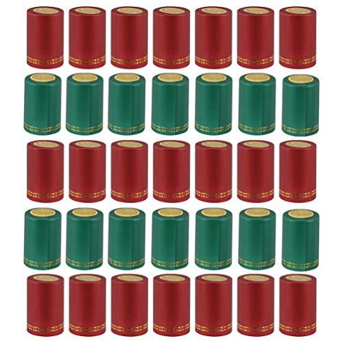 Cabilock 100 Pcs PVC Thermrétractable Capsules Maes Vin Rétractable Wraps De NëlDe Vin Capsules WrapDe Vin TPS Cuverture Film