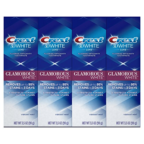 Crest Toothpaste 3D White Glamorous White, 4.1oz (Pack of 4)