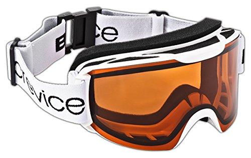 Black Crevice Masque de Ski pour Adulte Taille Unique Blanc - Blanc/Orange