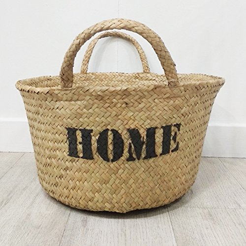Kenay Home Home Capazo, Mimbre, Crema, 40x40x25 cm