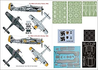 Montex Super Mask 1:32 FW 190 A3 for Hasegawa Special Edition Kit #K32114