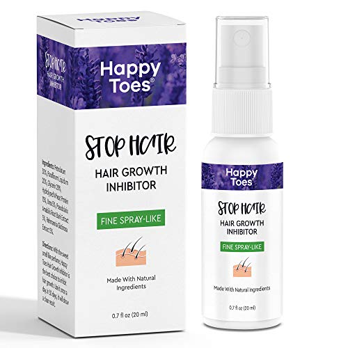 Painless hair growth inhibitor Spray - Permanent Body Hair Removal for Men & Women - Non Irritating & Suitable for Sensitive Skin - Effectively Stops Hair Growth - All Natural & Safe to Use