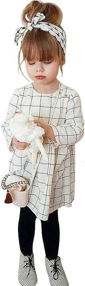 Toddler Kids Baby Ranking TOP11 Girls shipfree Plaid Long Outfit Sleev Sleeveless Dress
