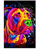 Pitbull Water Color Gifts for Dog Lovers V.ertical Poster