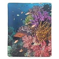 マウスパッド ノートブック デスクトップ コンピューター アクセサリー ミニ オフィス用品 マウスマットサンゴ礁水中海洋生物学ストーニー