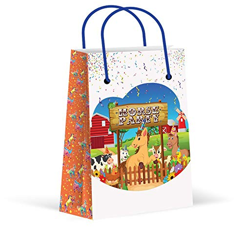 Premium Horse Party Bags, Treat Bags, New, Gift Bags,Goody Bags, Horse Party Favors, Horse Party Supplies, Decorations, 12 Pack
