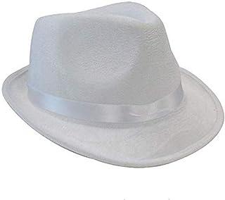 Fedora Gangster Hat - White Fedora Gangster Hat - White