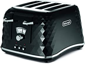De'Longhi Brillante Toaster 4 Slice Toaster, Black, CTJ4003BK