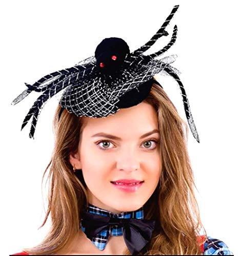 Cathercing - Diadema para disfraz de araña de Halloween, color negro, con encaje para mujeres y niñas, accesorio para el pelo para cosplay, fiesta de graduación
